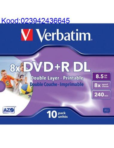 DVDR Doule Layer toorik 8x 85GB Verbatim Printable JewelCase 626