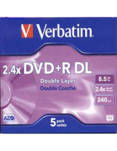 DVDR Double Layer toorik 8x 85GB Verbatim 627