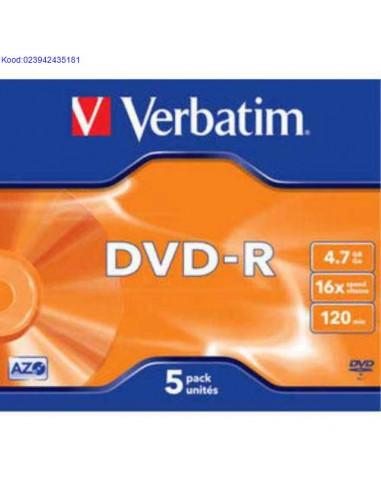DVD-R toorik 16x 4,7GB Verbatim Azo...