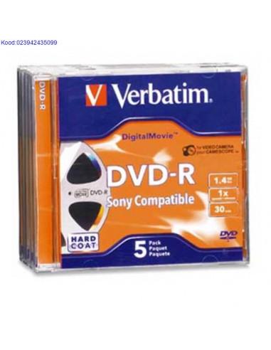 DVD-R mini-toorik 4x 1,4GB Verbatim...