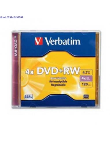 DVD+RW диск 4x 4,7GB Verbatim JewelCase