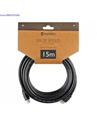 HDMI A - HDMI A Кабель 15м 4World