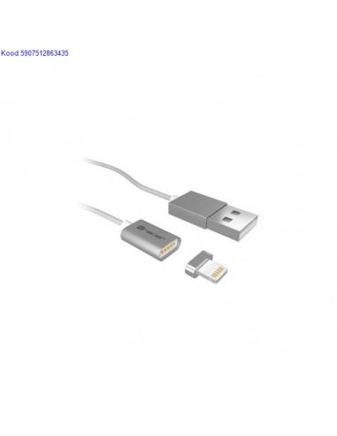 Magneetiline USB A kaabel iOS 2,4A...