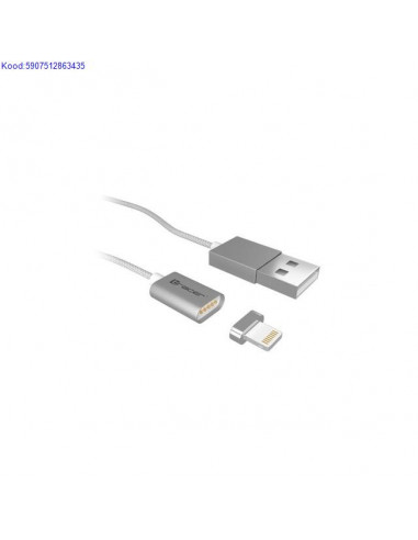 Magnetic USB A cable iOS 2,4A Tracer 1m