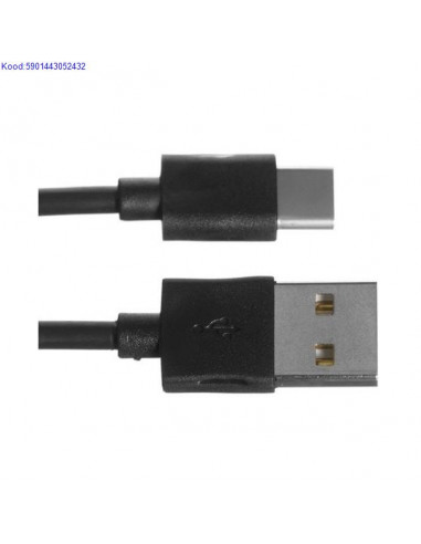 USB-кабель USB C - USB A, 1м iBox черный