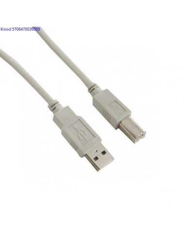 USB2.0 kaabel A-B 2m Qnect