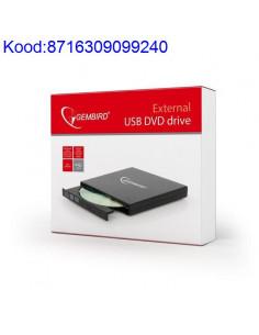 Vline DVD kirjutaja Gembird External must USB 714