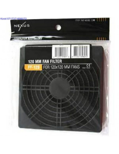 Фильтр вентилятора 120мм Nexus черный