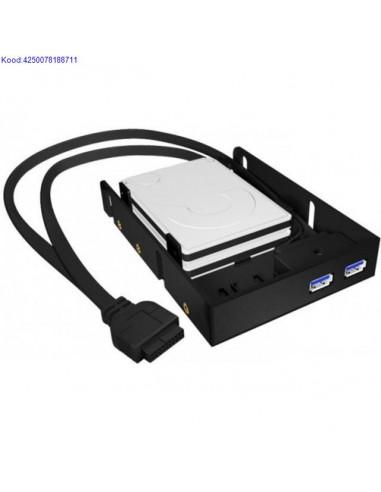 Kvaketta rakis IcyBox IBAC615 25 kettale USB30 leminekuga 726