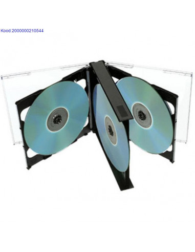 CD/DVD box for 4 disks transparent