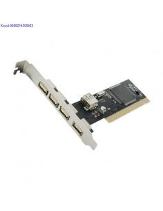 PCI USB20 adapter 4World 41porti Art02997 732
