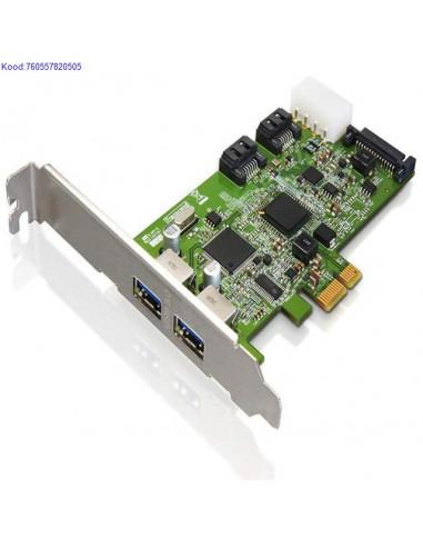 USB 30 PCIExpress kaart Trancend TSPDC3 2porti 734