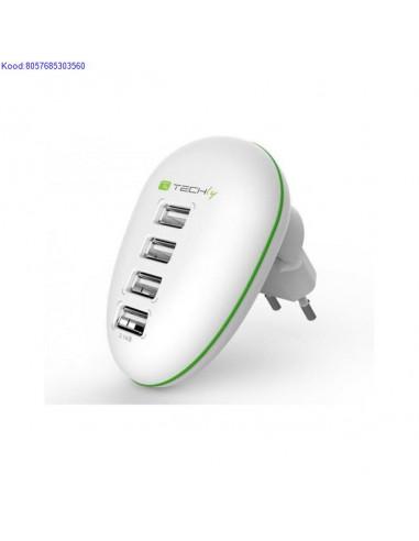 USB laadija vooluvõrgust 4 porti 220V...